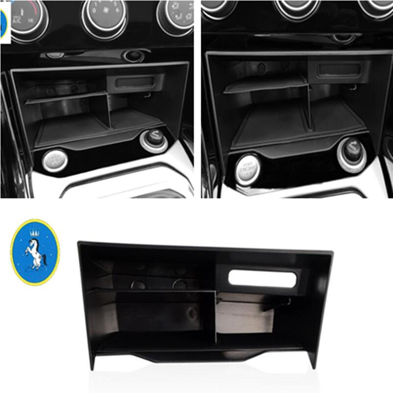 Yimaautotrims Auto Accessory Center Storage Container Organizer Multifunction Box Kit Fit For Volkswagen T-Roc T Roc 2018 2019