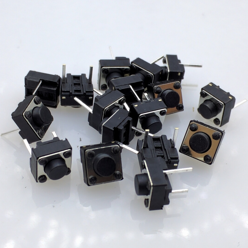 Free shipping 6X6X5mm 2pinTactile Tact Mini Push Button Switch Micro Switch Momentary 100pcs/lot 50pcs lot smt 3x4x2 5mm 4pin tactile tact push button micro switch g75 self reset car remote control switch free shipping