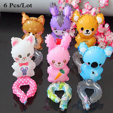 baby birthday balloons party decoration supplies inflatable personalized dog bear rabbit cat donkey animal shaped