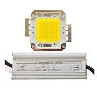 High Power 100W White 6500K Warm White 3500K SMD LED Light + Input 12~24V DC LED Driver