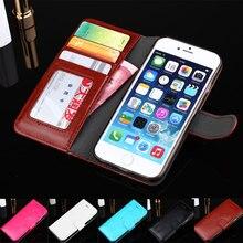 Люкс Флип мобильный телефон чехлы для iPhone 6/6 s кожаный бумажник чехол для Apple iPhone6 слот Кредитные карты держатель телефона стенд