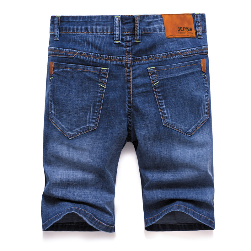 2019 Brand Mens Summer Stretch Thin Quality Denim Jeans Male Short Men Blue Denim Jean Shorts Pants Big Size 40 42 New