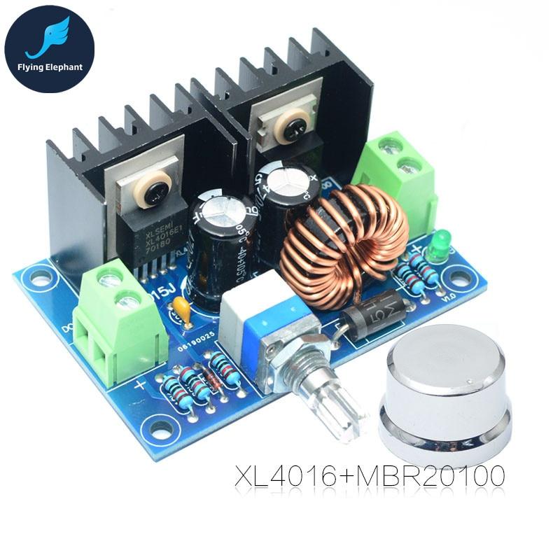 DC Voltage Regulator DC-DC XL4016E1 High Power Step-Down Power Supply + Switch 200W 8A DC125-36V Output