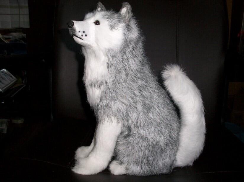 simulation animal husky dog about 30 cm squat husky dog polyethylene & furs handicraft gift w5508 new simulation sleeping dog plastic&fur black&white dog model gift about 36x25x14cm a81