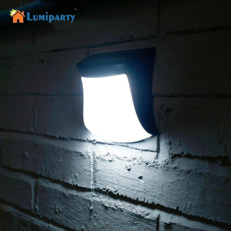 LumiParty Открытый Солнечный Мощность забор свет Водонепроницаемый солнечная Бра авто на/Off Сад Путь лампы для лестницы палубы ночник