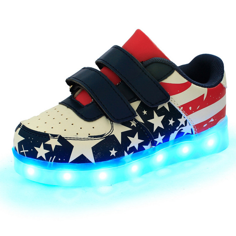 2016 New Spring Light Up Shoes Boys Toddler Shoes Led Light