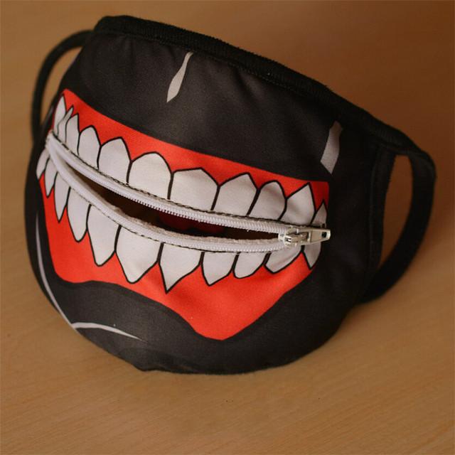 Kaneki Ken Zipper Cycling Anti-Dust Face Masks