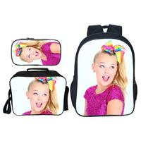 3Pcs/Set Pop Star Jojo Siwa Kids Baby School Bags for Teenage Girls Daily Backpack Casual Travel Shoulder Bags Children Bookbag