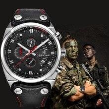 ساعة يد رياضية للرجال من BENYAR من العلامة التجارية الفاخرة المقاومة للماء كرونوغراف عسكري ساعة رجالية من الكوارتز ساعة رجالية بنمط عسكري