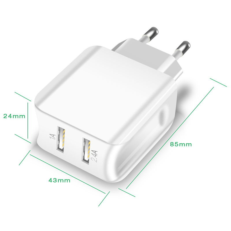 Suntaiho Universal Dual USB Port Charger Travel Wall Charger Adapter Smart Mobile Phone Charger for iPhone/Samsung/Xiaomi /iPad