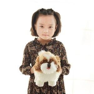 Fancytrader realistyczne Anime Shih Tzu pluszowy pies zabawki nadziewane Mini zwierzęta pies lalka 20cm 7 cal wielki prezent dla dzieci