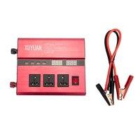 Dual USB 2600 Вт DC 12 В к AC 110 В/220 В Портативный автомобиля Мощность инвертор Зарядное устройство адаптер конвертер