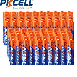 (100 шт. в упаковке) PKCELL 50 шт. LR6 AA батареи и 50 шт. LR03 AAA батареи 1,5 В щелочные батареи для игрушек, инструментов, часов