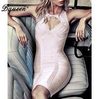 HEGO 2016 New Cutout Round Neck Sleeveless Bandage Dress Sexy Costumes
