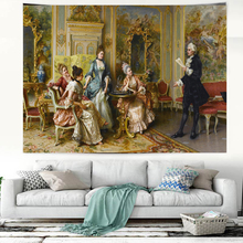 masterpiece art decor tapestry decorative Wall Hanging curtain spread covers cloth blanket art tapestry portrait poster wall art decorative three snowmen pattern tapestry