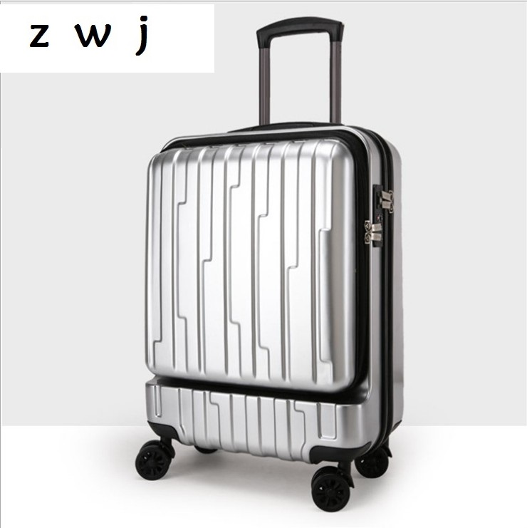 20 inch Opening pocket rolling luggage spinner trolley bag computer luggage suitcase