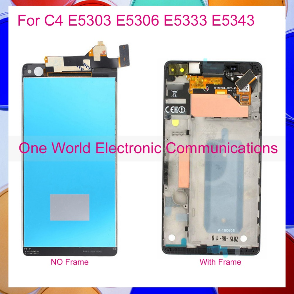 One World For Sony Xperia C4 E5303 E5306 E5333 E5343 E5353 E5363 Full LCD Display Digitizer Touch Screen Complete Assembly+Frame