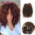 7A cheap human hair Kinky Curly Malaysian virgin hair 4pcs per lot 100g per pcs Light Brown best Malaysian hair weave extension