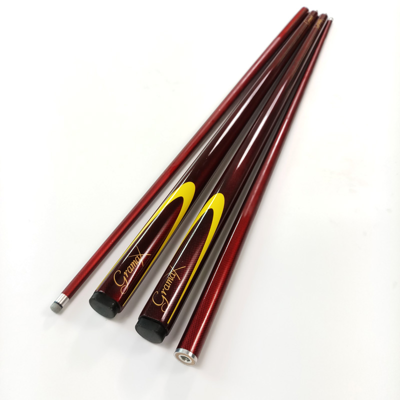 Professional Billiards Pool Carbon cues Wine red 1 2 splited standard Snooker cue 9 5mm small
