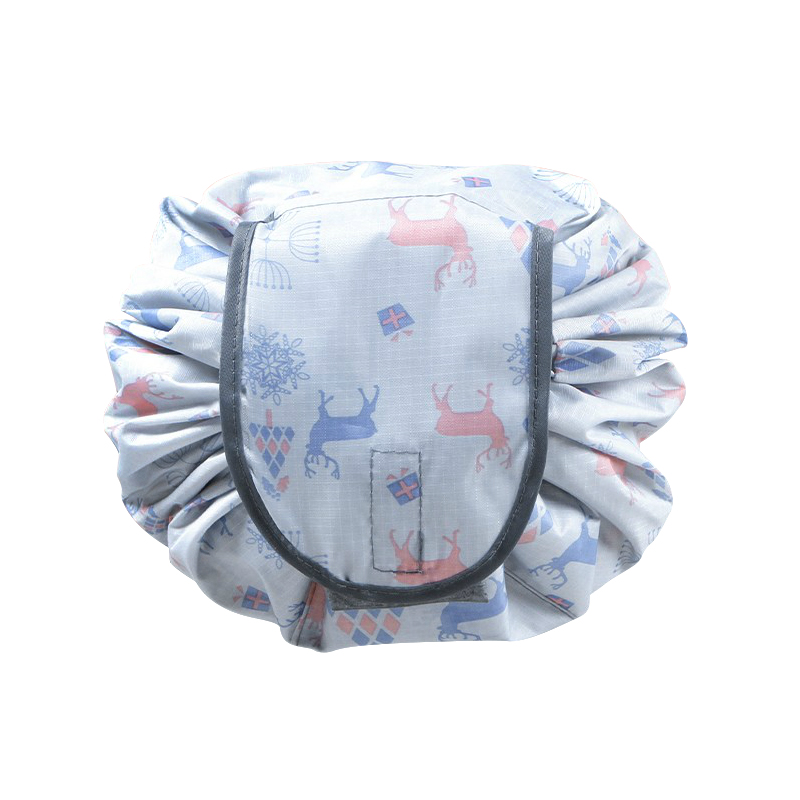 Deer Pattern Portable Drawstring Shrink Cosmetic Bag Folding Markup Pouch Storage Cosmetics Multifunctional Accessories Products folding reusable shopping bag portable eco multi function pouch travel durable home storage handbag accessories supplies product