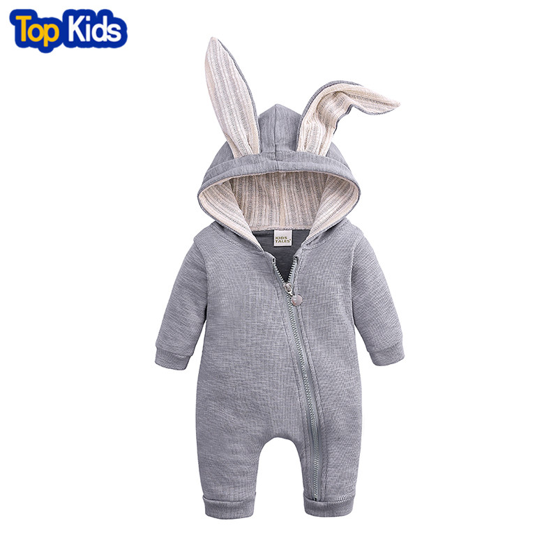 New Spring Autumn Baby   Rompers   Cute Cartoon Rabbit Infant Girl Boy Jumpers Kids Baby Outfits Clothes MBR218