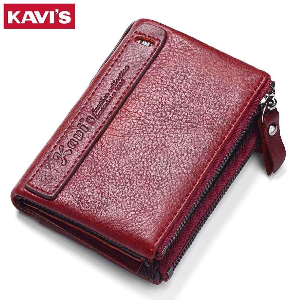 KAVIS 2017 New Vintage Small Women Wallets Female Genuine ...