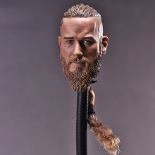 цена на 1/6 scale mens men strong boy head sculpt Viking Travis Fimmel with braid for 12 inches male muscular bodies figures dolls