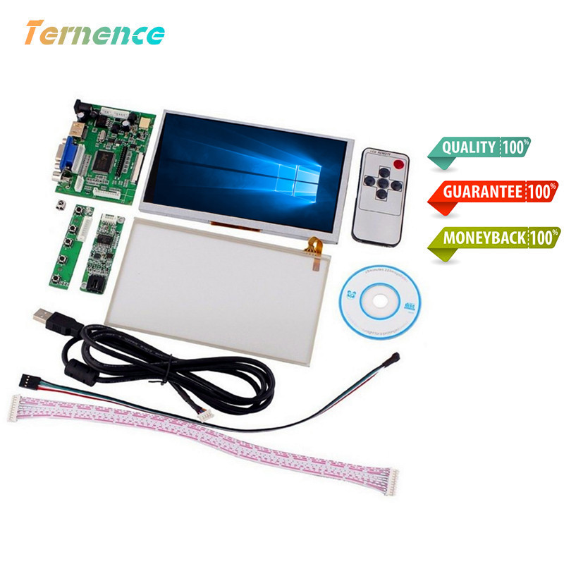 Skylarpu 7'' LCD for INNOLUX Raspberry Pi LCD Touch Screen Display Monitor AT070TN90 Touchscreen Kit HDMI VGA Input Driver Board for innolux 7 0 inch raspberry pi lcd display screen tft lcd monitor at070tn90 kit hdmi vga input driver board free shipping