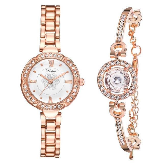 Women's Beautiful Casual Watch And Delicate Bracelet Set
