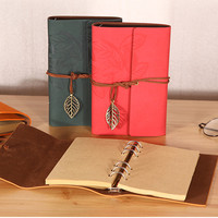 The traveller's notebook is a notebook of antique literature PU a6 leather notebook stationery gifts office stationery|Notebooks|Education & Office Supplies -