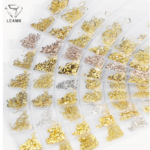 LEAMX 1 Pack Mixed 3D DIY Hollow Metal Frame Nail Art Decorations Rivet Manicure Accessories Shell Slider Studs L493