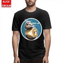 Star wars t shirt Men BB-8 On The Move T-shirt Harajuku Homme Tee Shirt 100% Cotton Big Size Tshirt Birthday Gift Tees