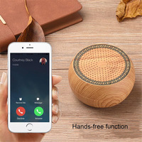 Portable Wooden Wireless Bluetooth Speaker Hands Free With Microphone Speakers Boombox Support TF Card MP3 Music