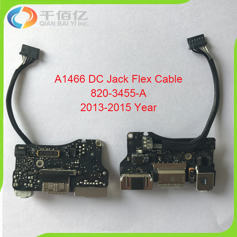 Original Laptop I/O USB Power Audio Board 820 3455 A DC Jack 923 0439 for MacBook Air 13 A1466 2013 2014 2015