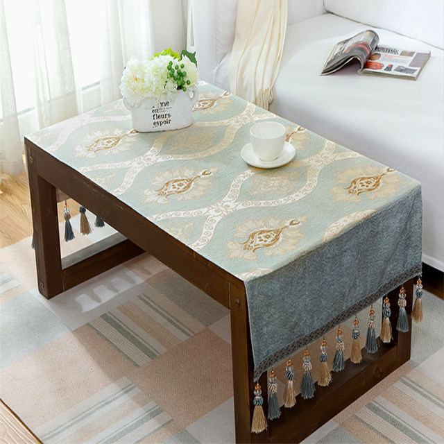 Online shop luxury table cloth europen jacquard toalha de mesa small luxury table cloth europen jacquard toalha de mesa small tablecloth pocket design hanging dinning bedside cabinets table covers watchthetrailerfo