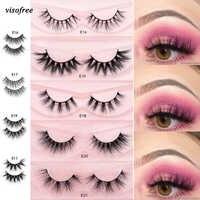 Visofree Eyelashes 3D Mink Lashes full volume soft lashes natural handmade long eyelash extension real mink eyelash for makeup