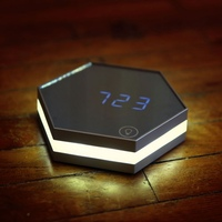 Multi function Mirror Alarm Clock Rechargeable Portable Smart Led Digital with Time Alarm Temperature Display Desk or Room