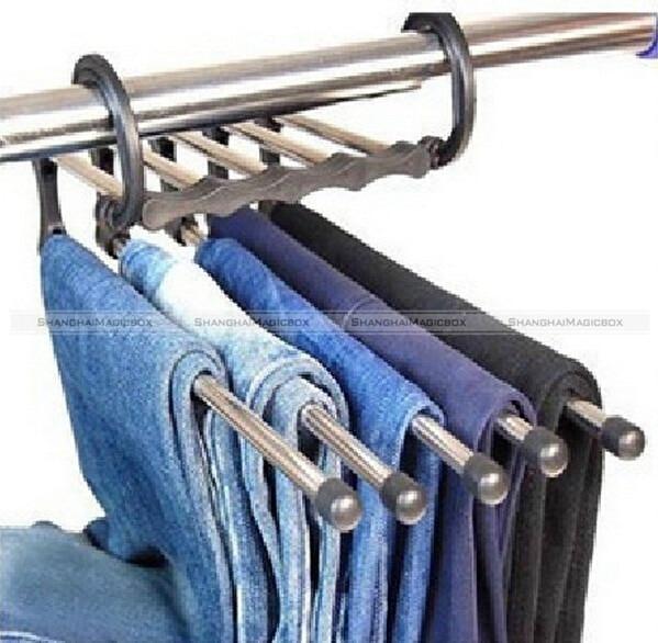 ShanghaiMagicBox Space Saver Hangers Closet Organizer Pant Stand Rack Magic Hanger 5 In 1 40414316