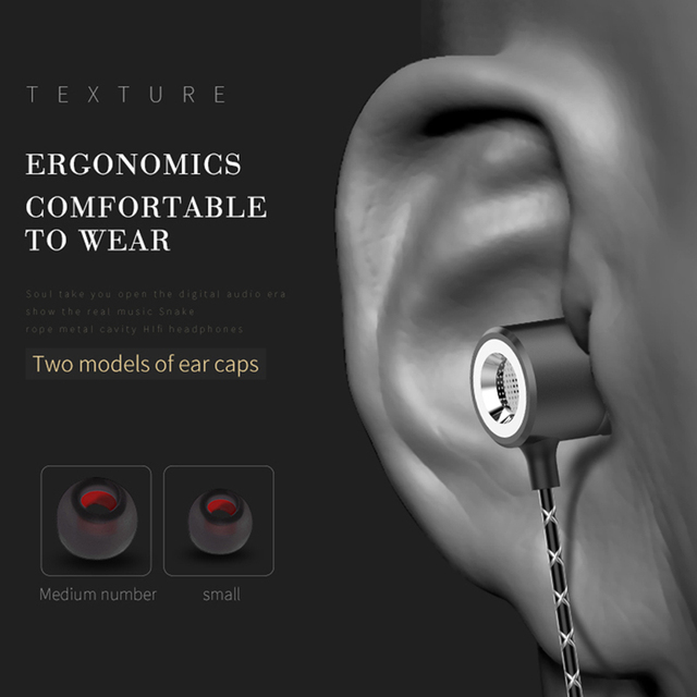 Tebaurry S1 Metal Earphones with Microphone Super Bass Headset Earbuds In-ear Earphone for phone Xiaomi iphone audifonos