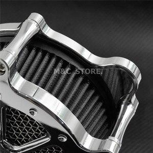 Image 5 - Motocicleta todo o sistema de filtro de ar mais limpo cromo para harley xl sportster 04 19 touring estrada glide 08 16 dyna softail menino gordo