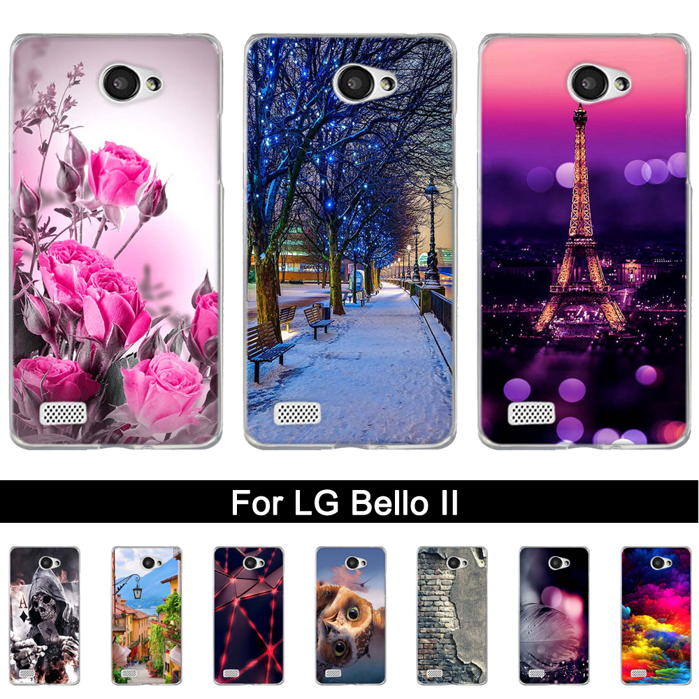 Phone Case Cover For <font><b>LG</b></font> Bello II 2 / Prime II / <font><b>LG</b></font> <font><b>Max</b></font> <font><b>X155</b></font> Soft TPU Silicone Animals Scenery Phone Shells Bags for <font><b>LG</b></font> Prime II image
