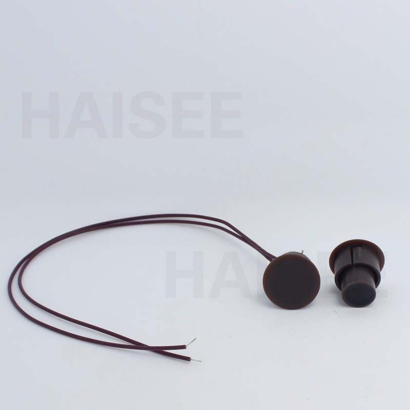 A Lot 10 pcs D*H 23*22mm Brown Color Wired Magnetic Sensor Door/Window open Detector Switch датчик fibaro door window sensor dark brown fib fgk 107