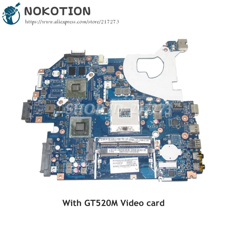 NOKOTION MB.RFF02.004 MBRFF02004 For Acer Aspire 5750 5750G NV57 Laptop Motherboard P5WE0 LA-6901P HM65 DDR3 GT520M Video Card