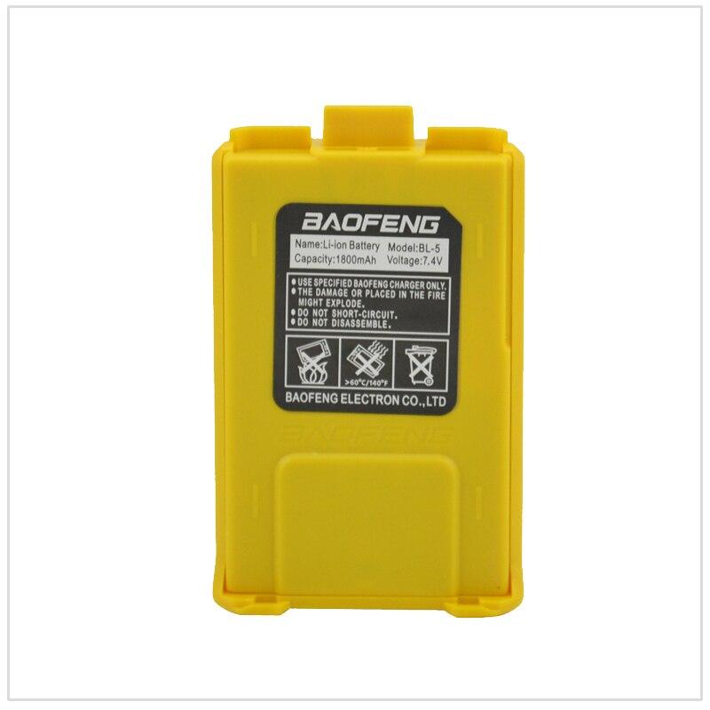 Yellow Baofeng Radio Li-ion Battery DC7.4V 1800mAh For Baofeng UV-5R,UV-5RA,UV-5RB,UV-5RC,UV-5RD,UV-5E,TYT TH-F8