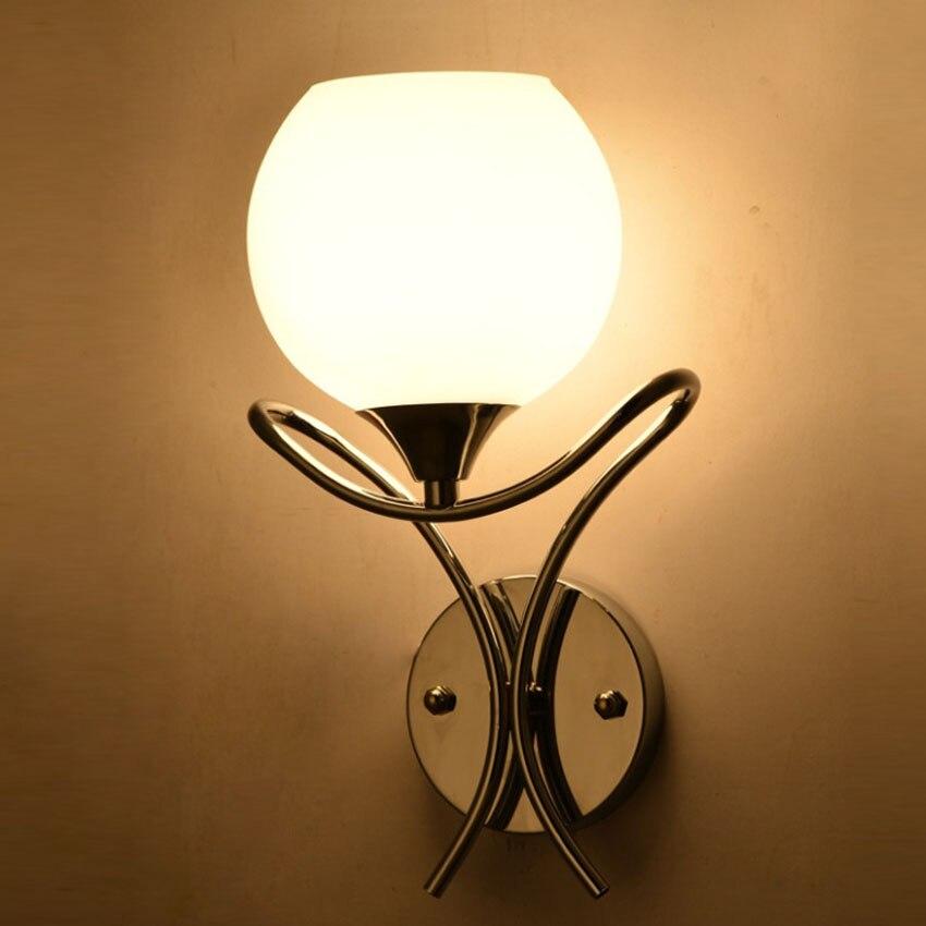 Современная Простота светодиод Настенные светильники для Спальня ночники коридор и творческие стены освещения