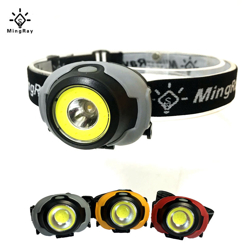 MingRay Mini COB Headlamp 3 W Powerful Led Headlight Waterproof Flashlight On Head For Camping Fishing Ridding Lamp Lantern