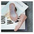 Huarache сандалии женщин 2016 плоские сандалии обувь женщина zapatos mujer летняя обувь желе обувь sandalias 030