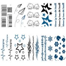 HC76-100 Multi Waterproof Fake Tattoo Stickers Paper Airplane Temporary Tattoo Sticker Women Sexy Shoulder Flash Tattoo Taty