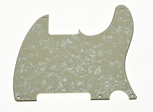 KAISH 5 Hole TL Style Blank Pick Guard Scratch Plate No Pickup Hole Aged Pearl 3 Ply