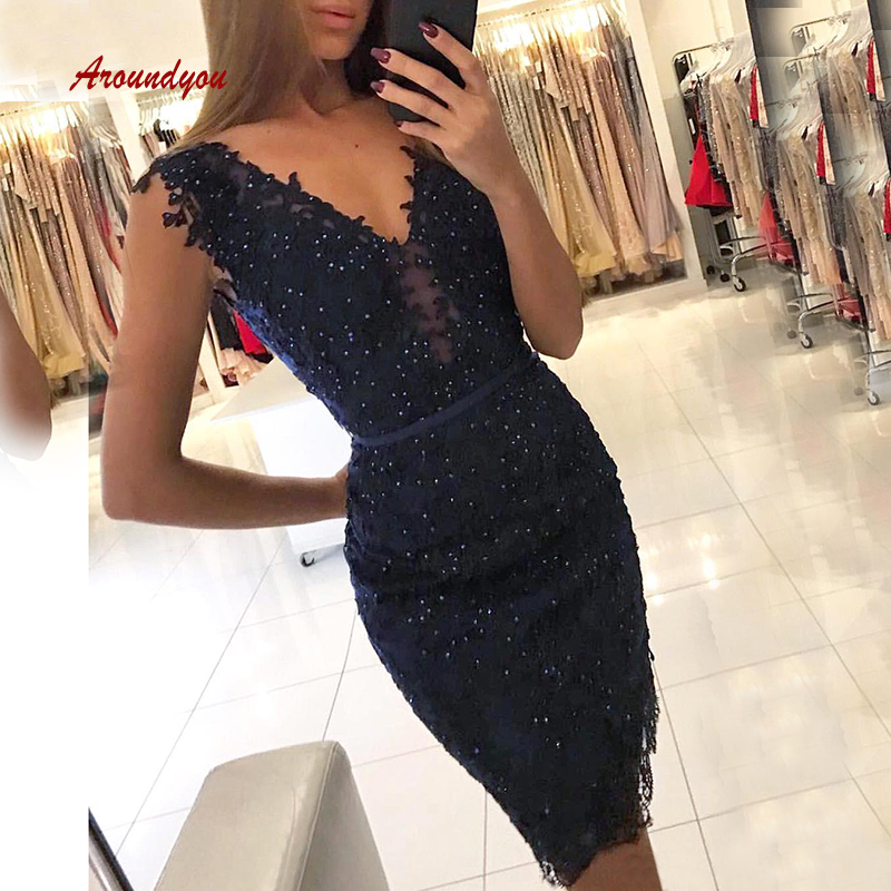 Sexy Short   Cocktail     Dresses   Crystal Navy Blue Graduation Party Prom Grade 8 Graduation Homecoming   Dresses